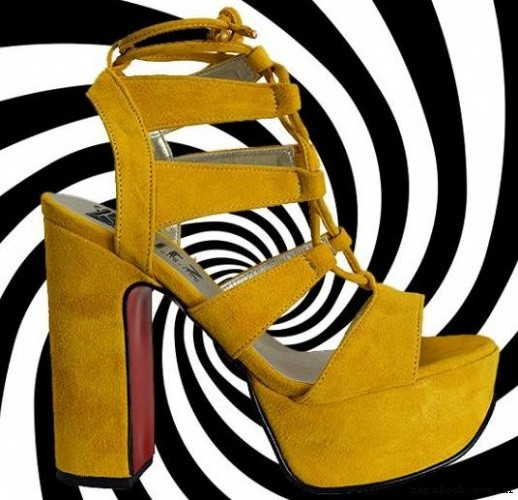 Sandalias amarillas altas verano 2017 - KAITZ
