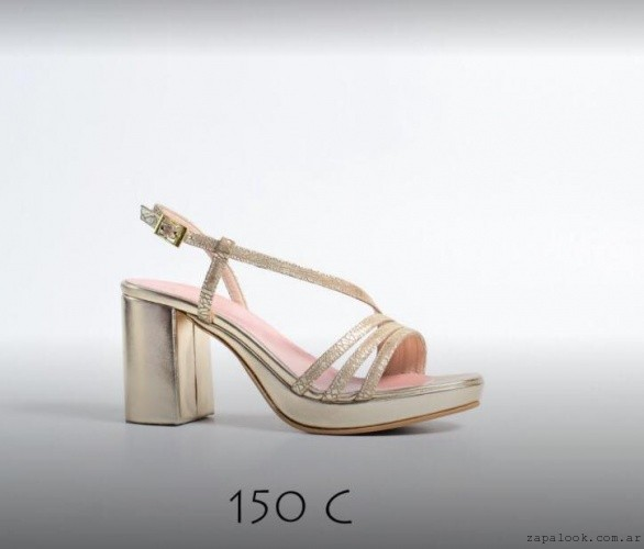 Sandalias doradas verano 2017 - Micheluzzi