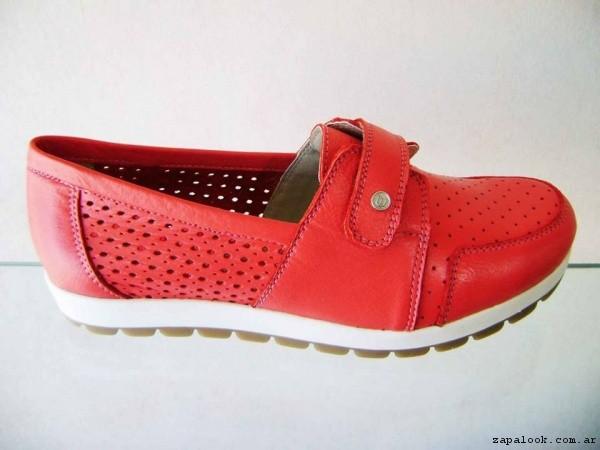 Zapato taco chino rojo primavera verano 2017 - Circle Urbano