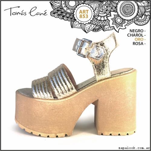 Sandalia dorada verano 2017 - Tomas Cane