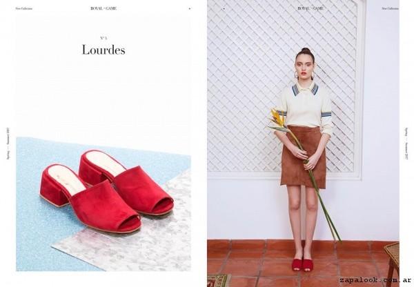 Sandalias rojas primavera verano 2017 - LOOM