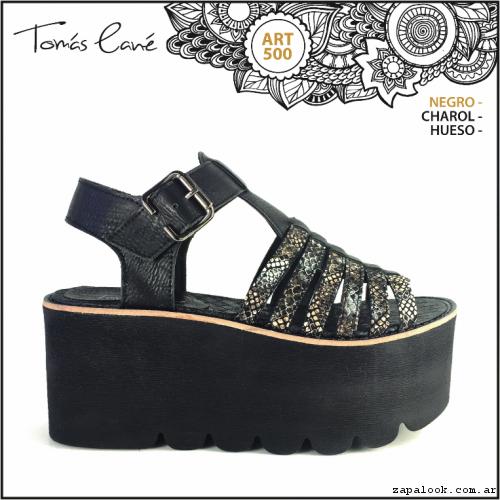 Sandlia negra y dorada verano 2017 - Tomas Cane