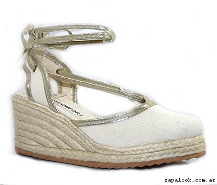 Zapato lona taco chino base yute primavera verano 2016 - Ripani