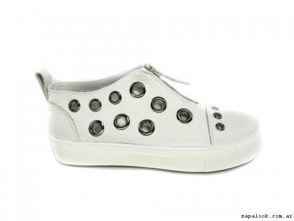 botitas con ojales y cierre Magali Shoes