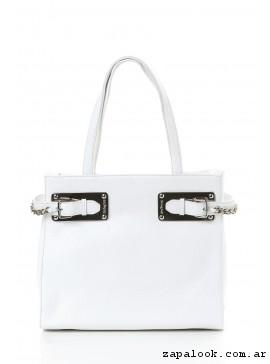 cartera blanca primavera verano 2017 - The Bag Belt