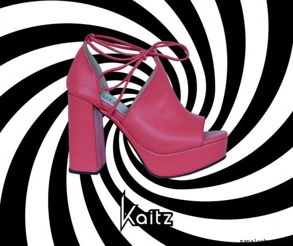 sandalia alta rosada primavera verano 2017 - kaitz