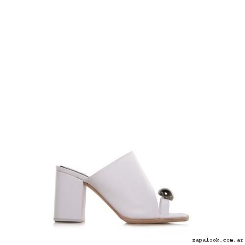 sandalia blanca Ricky Sarkany primavera verano 2017