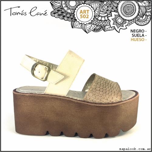 sandalia con plataforma verano 2017 - Tomas Cane