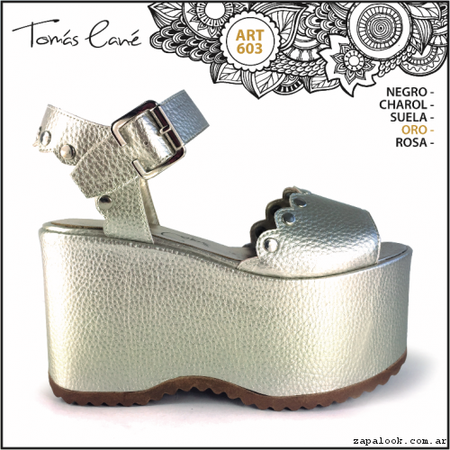 sandalia plateada con plataforma verano 2017 - Tomas Cane