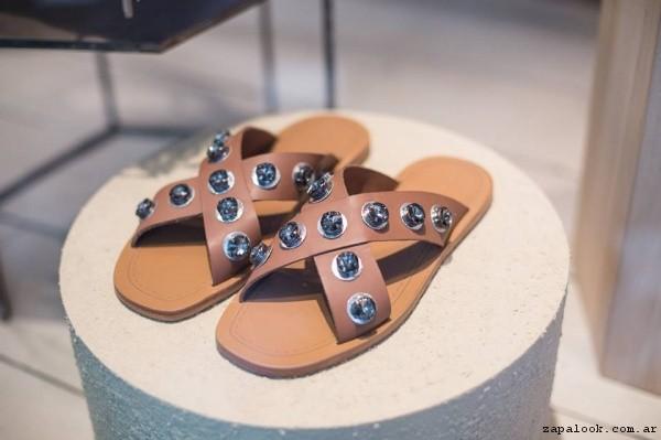 sandalias chatas verano 2017 - Rapsodia