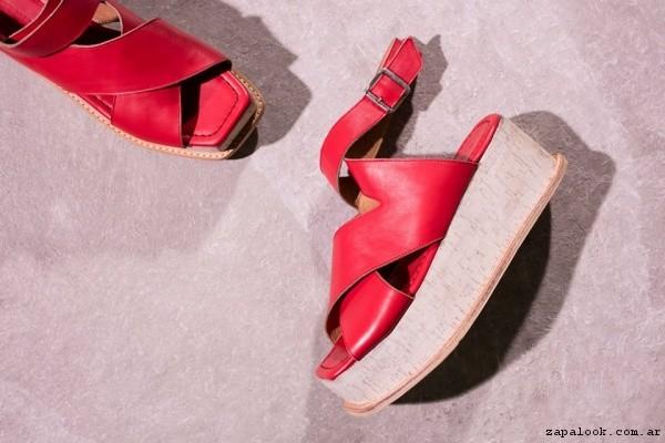 sandalias rojas primavera verano 2017 - Vitamina