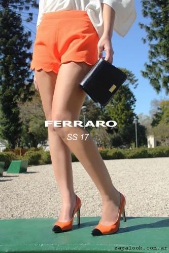 stilettos naranja y minibag verano 2017 - Ferraro