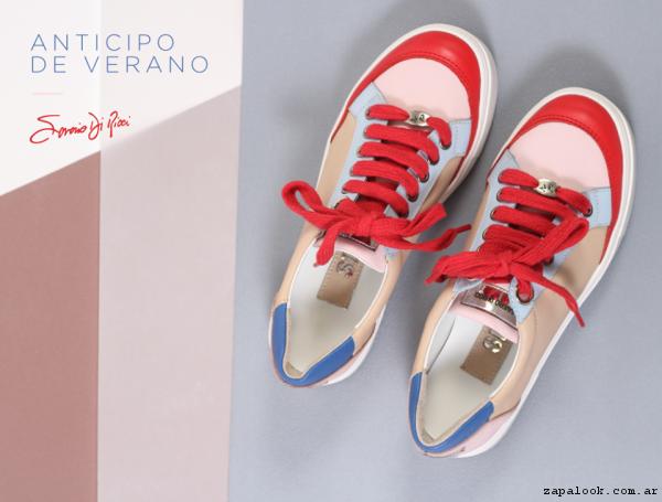 zapatillas de colores primavera verano 2017 - Saverio Di Ricci