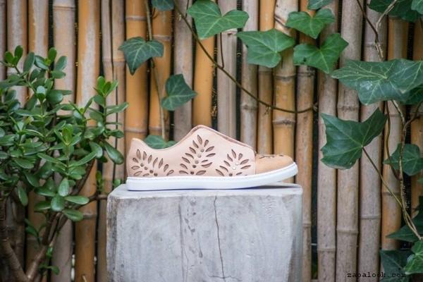 zapatillas rosas de cuero caladas primavera verano 2017 - Clara Barcelo