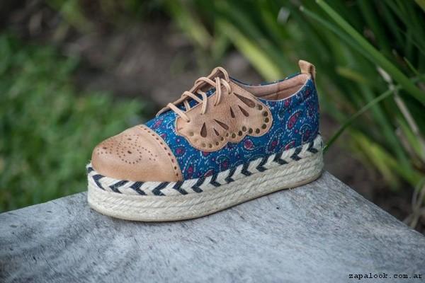 zapatillas tela estampada primavera verano 2017 - Clara Barcelo