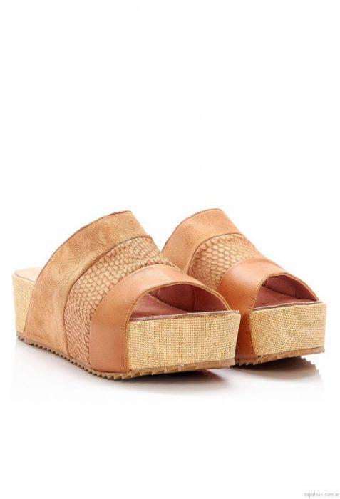4d6f43f9a40 sandalia tira ancha marron primavera verano 2017 heyas – Zapalook