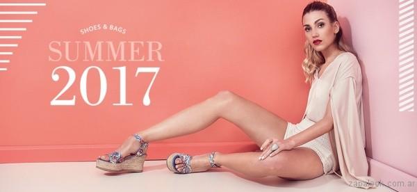 sandalias estampadas con base de yute verano 2017 calzados gravagna