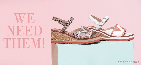 sandalias urbanas suela simil corcho verano 2017 calzados gravagna