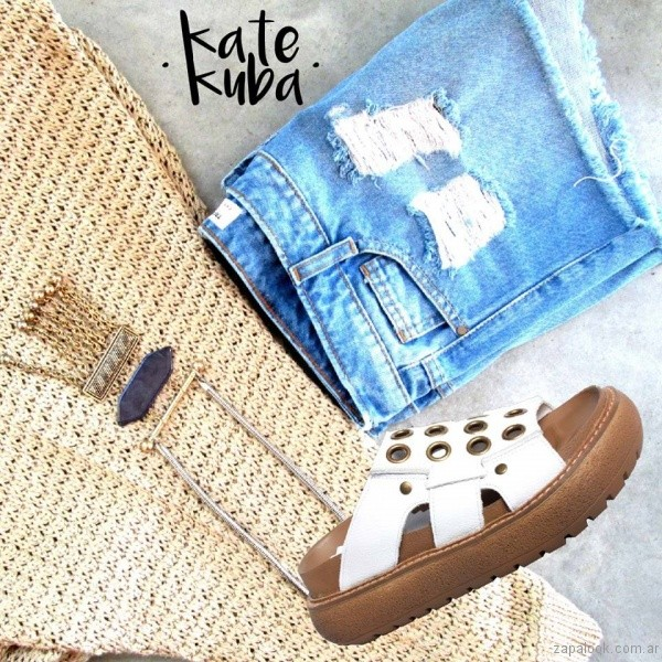 chatitas con ojales primavera verano 2017 kate kuba