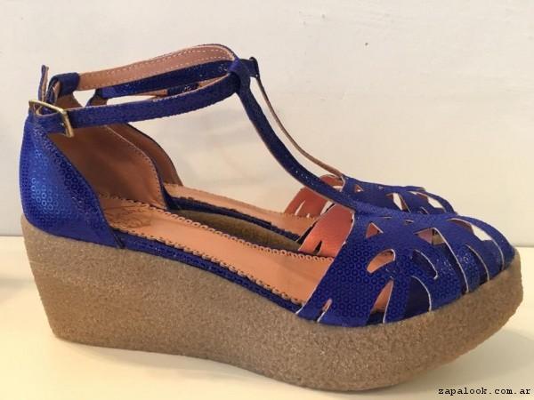 sandalias azules  verano 2017 - Alfonsina Fal