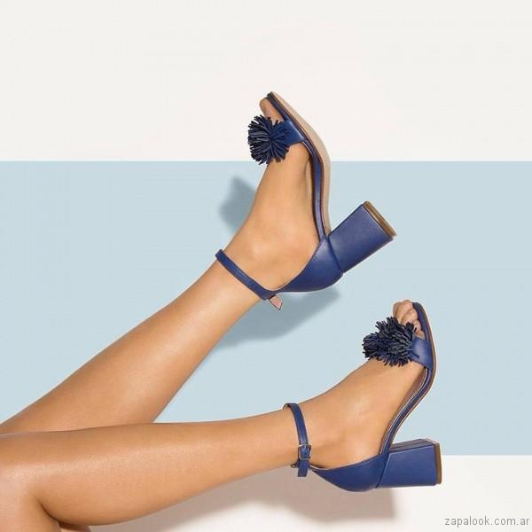 sandalias azules verano 2017 credo