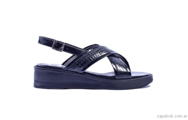 sandalias negras cruzadas verano 2017 tosone