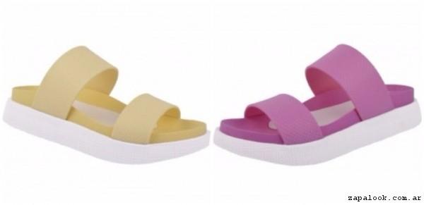 sandalias planas de colores verano 2017 - Fiori calzados