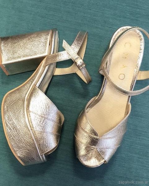 sandalias plateadas altas verano 2017 chao shoes