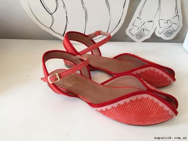 sandalias rojas  verano 2017 - Alfonsina Fal