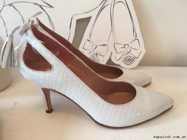stilettos blancos  verano 2017 - Alfonsina Fal