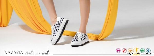 zapatillas con estrellas  verano 2017 - Nazaria