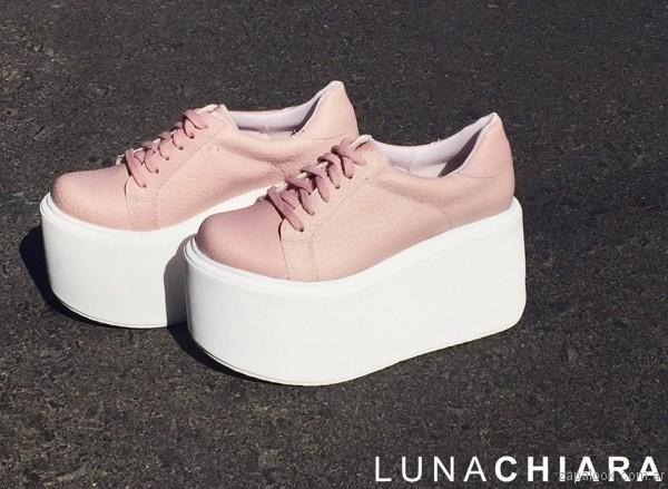 zapatillas con plataformas rosadas verano 2017 luna chiara