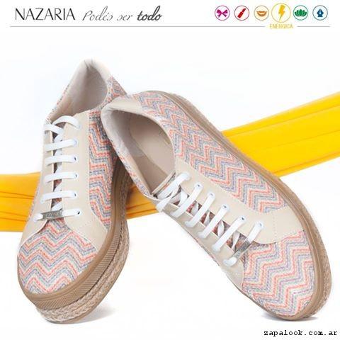 zapatillas de lina con base de yute  verano 2017 - Nazaria