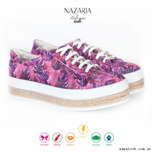 zapatillas estampadas base de yute  verano 2017 - Nazaria