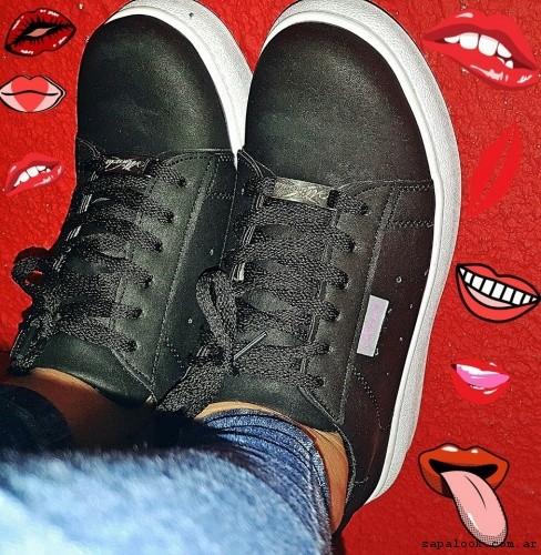 zapatillas urbanas mujer negras - Micaela - Pasos que enamoran 2017