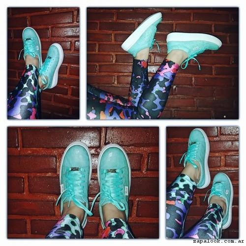 zapatillas urbanas mujer verdes - Micaela - Pasos que enamoran 2017