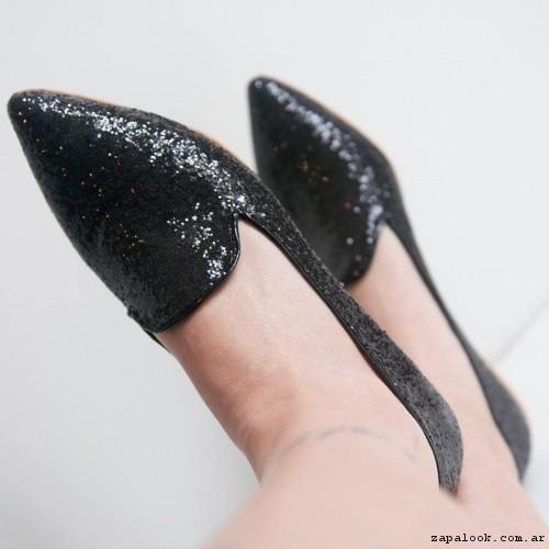 zapatitos en punta de glitter  verano 2017 - Nazaria