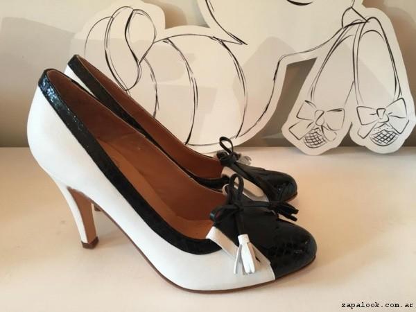 zapatos blanco y negro  verano 2017 - Alfonsina Fal