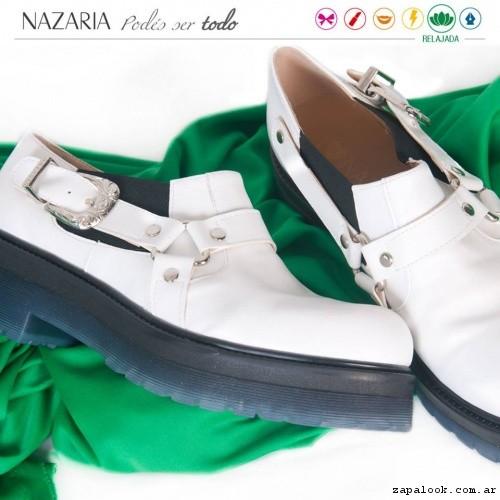 zapatos blancos  verano 2017 - Nazaria