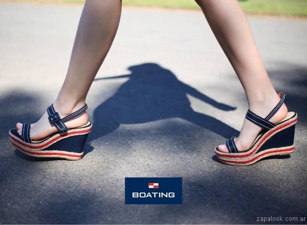 sandalias de lona boating mujer verano 2017