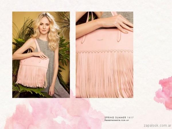 carteras rosa verano 2017 lazaro
