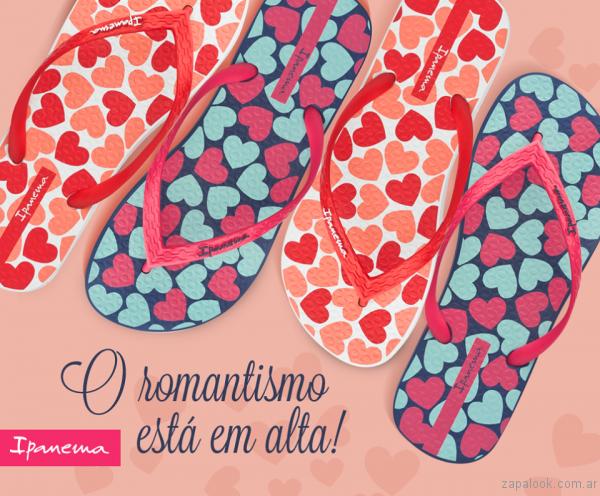 ojotas con corazones ipanema verano 2017