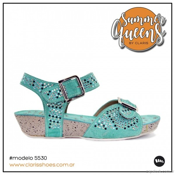sandalais turquesa verano 2017 claris shoes