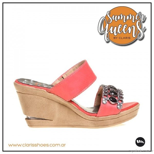 sandalia coral verano 2017 claris shoes