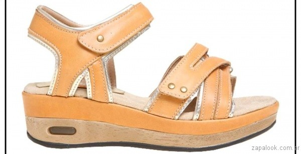 sandalia naranja verano 2017 claris shoes