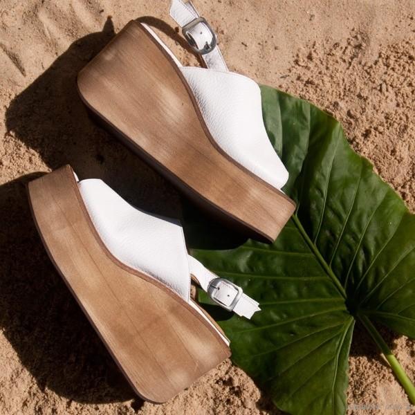 sandalias blanca base madera verano 2017 laura constanza