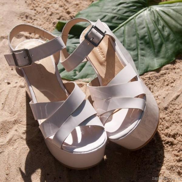 sandalias blancas altas verano 2017 laura constanza