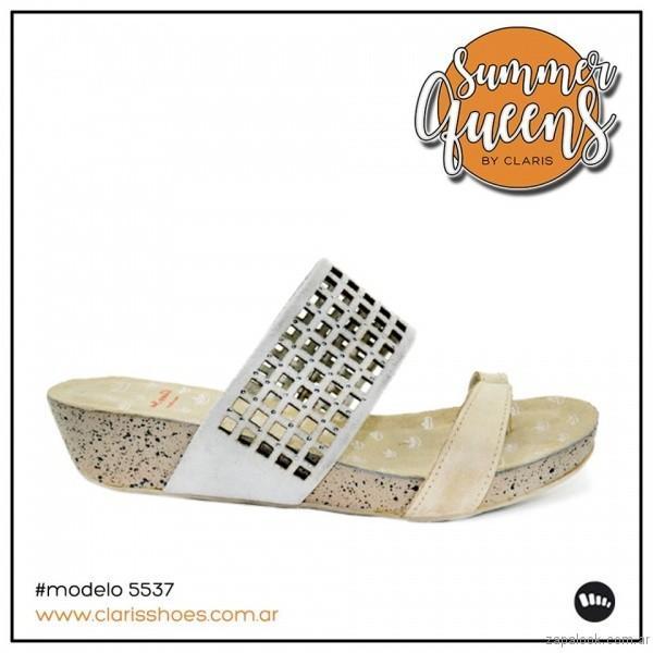 sandalias blancas verano 2017 claris shoes