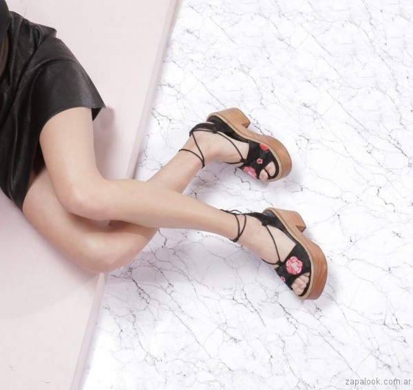 sandalias bordadas verano 2017 sibyl vane