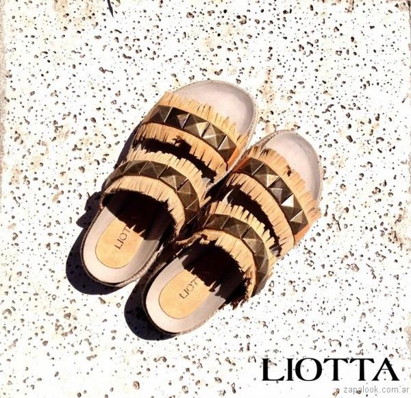 sandalias con flecos verano 2017 liotta